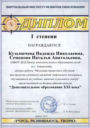 Конкурсы виро всероссийский конкурс